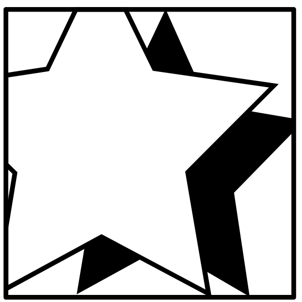Vector drawing of stars with shade