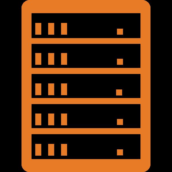 Simple server icon vector image