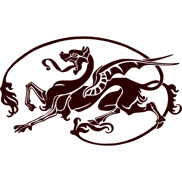 Art nouveau dragon vector image