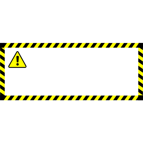 Warning sticker vector image