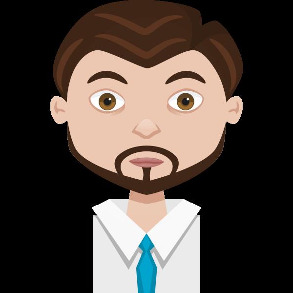 Male cartoon avatar vector graphics