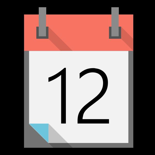 Spiral calendar icon vector illustration