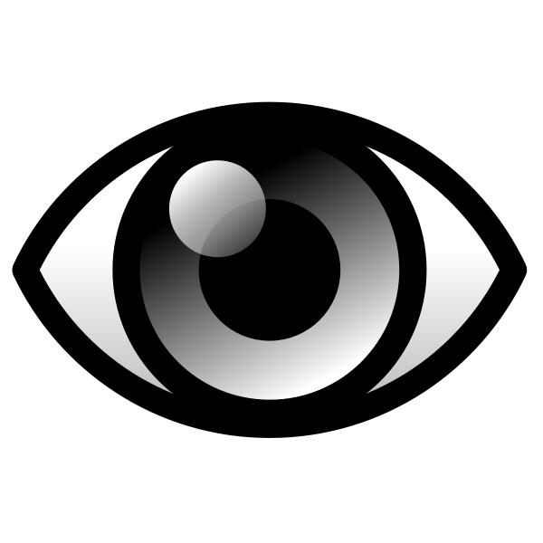 Vector clip art of black eye with reflection