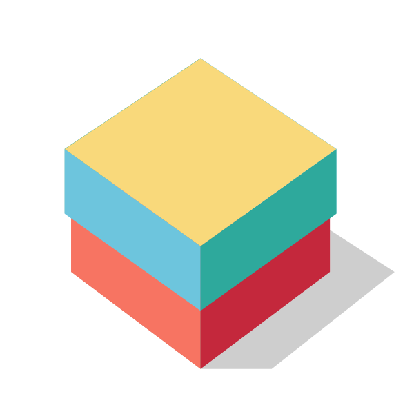 Vector image of a color box