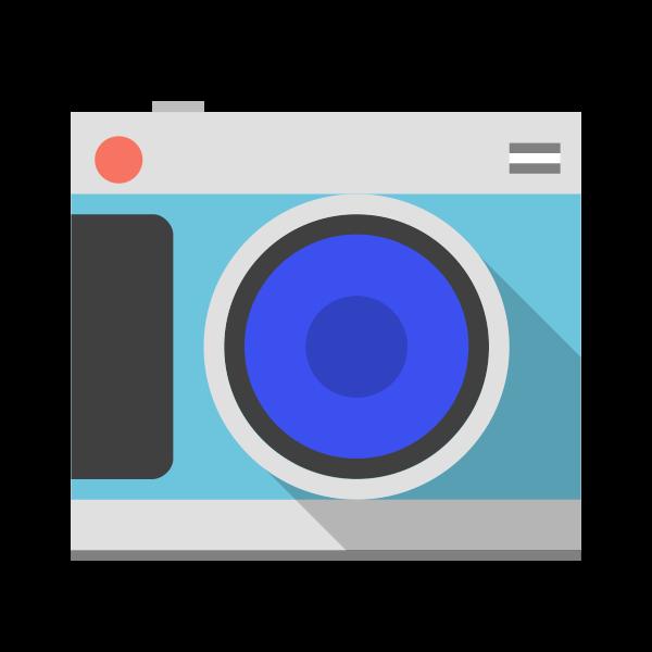 Pastel colored camera vector image