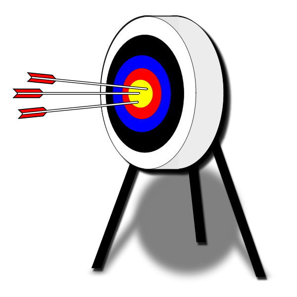 Vector image of target with arrows