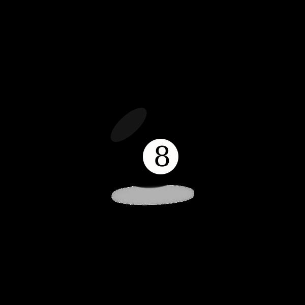 Black snooker eight