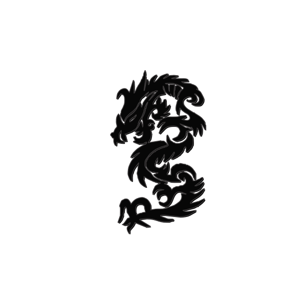Chinese New Year dragon vector drawing