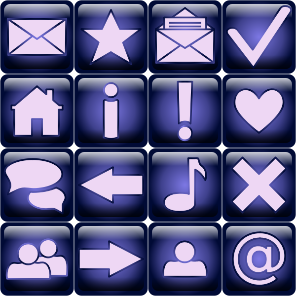 Computer operating system basic icons vector image