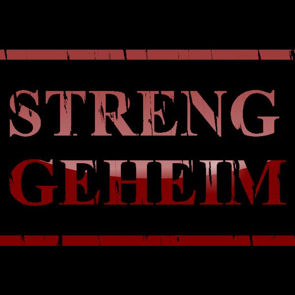 Streng Geheim vector image