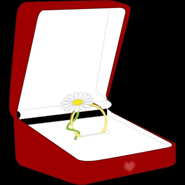 Vector illustration of ring box