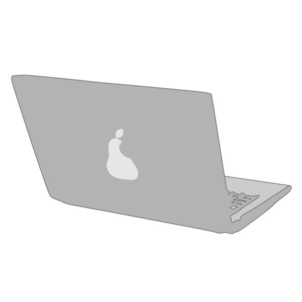 Laptop from real vector illustration