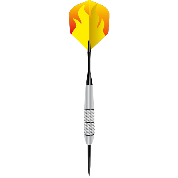 Vector image of dart arrow