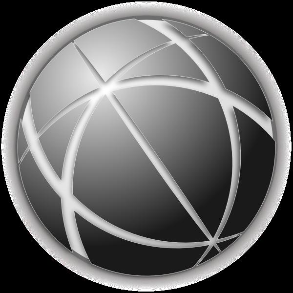 Gray globe icon vector image