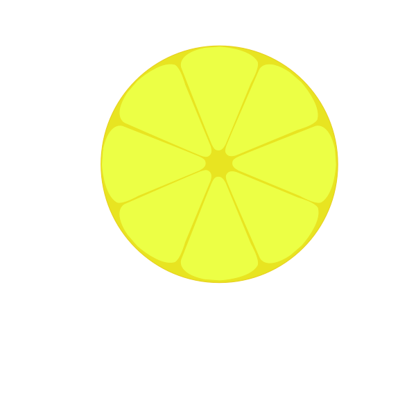 Lemon profile vector image