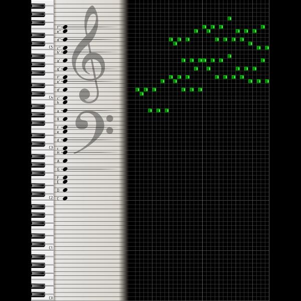 Digital music sheet vector drawing