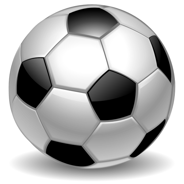 Football with white hexagons and black pentagons vector graphics