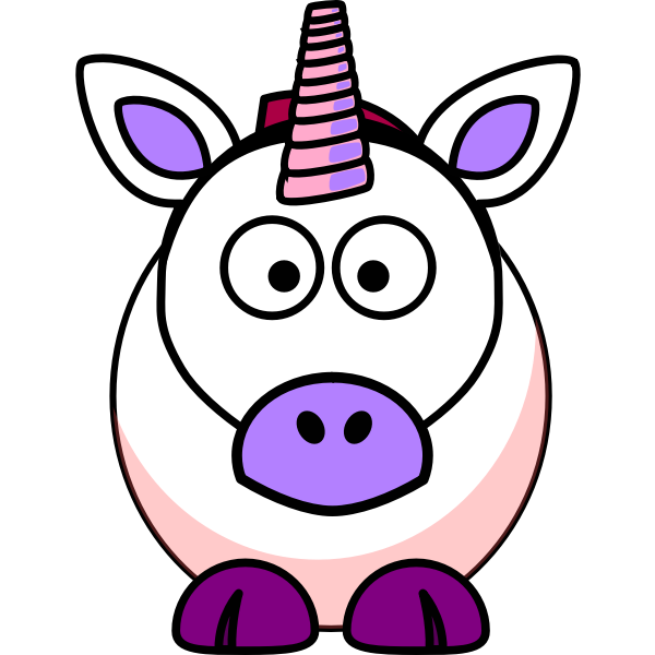 Cartoon unicorn image