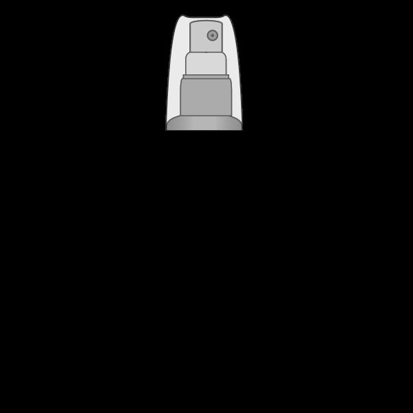 Vector graphics of blank spray bottle