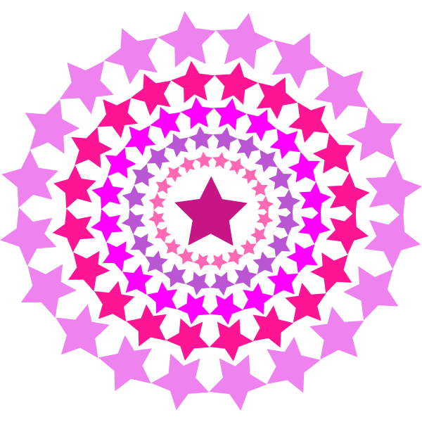 Circle with pink stars