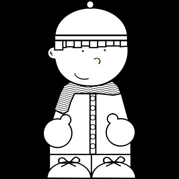 Vector graphics of cartoon snow kid