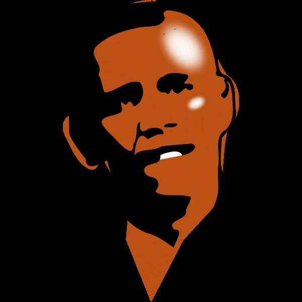 Obama portrait colored