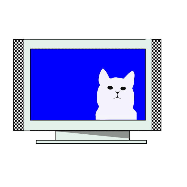 Cat on TV vector image