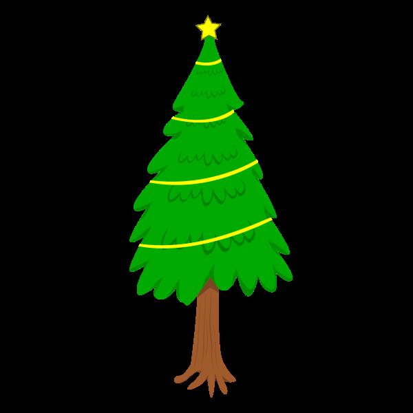 Natural Christmas Tree Vector Clip Art Free Svg