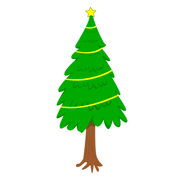 Natural Christmas tree vector clip art