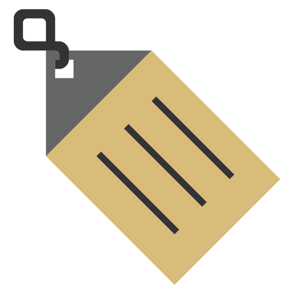 Vector illustration of name tag icon