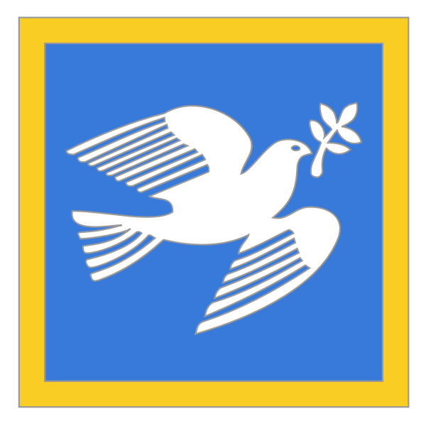 Vector clip art of dove of peace with olive branch