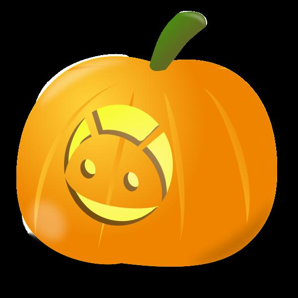 Android pumpkin vector drawing