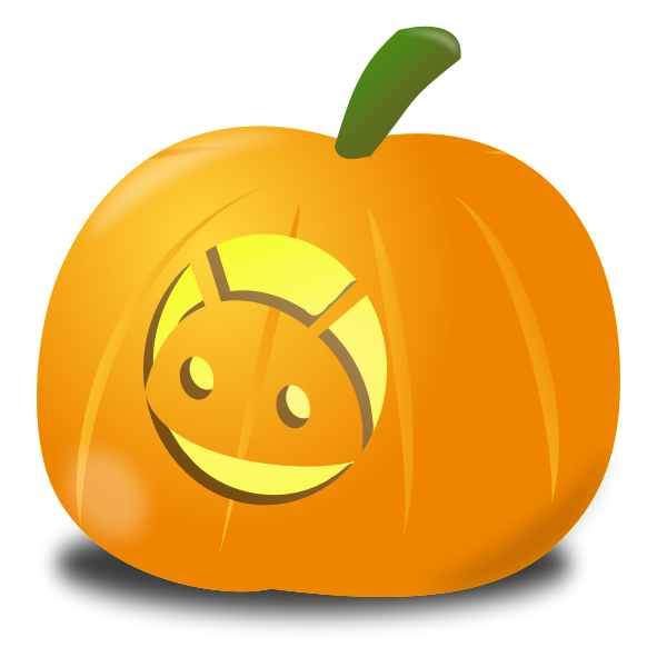 Android pumpkin vector drawing