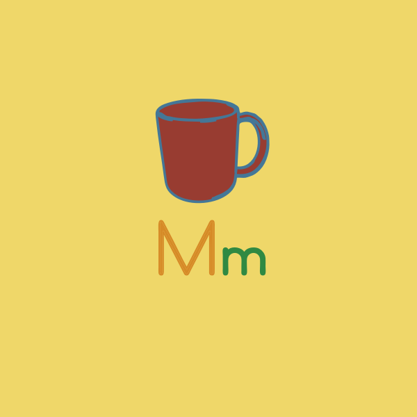 M is for mug vector image