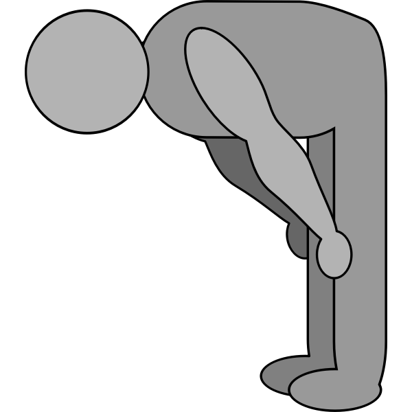 Bowing figure