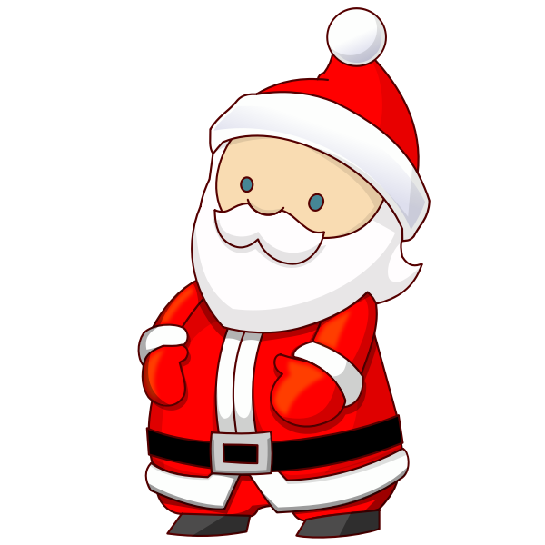 Attack the Tower game Santa Claus vector illustration
