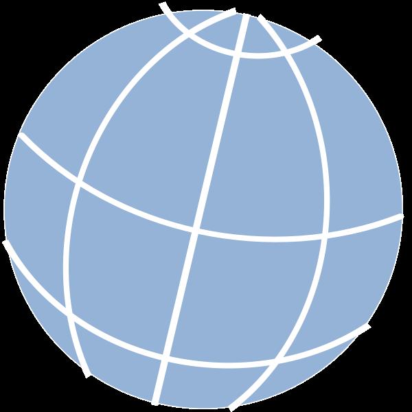 Simple globe icon vector clip art