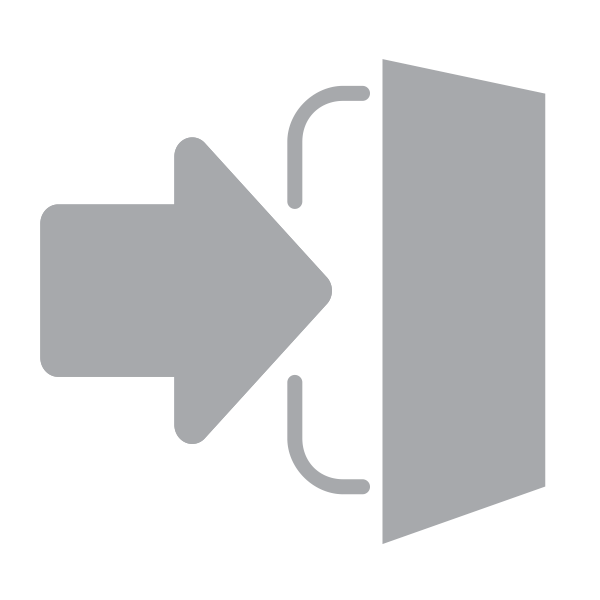 Grayscale exit icon vector image