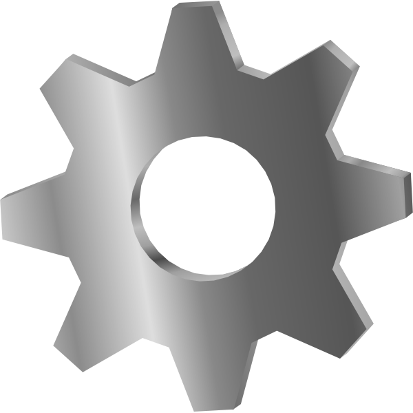 Metallic cog