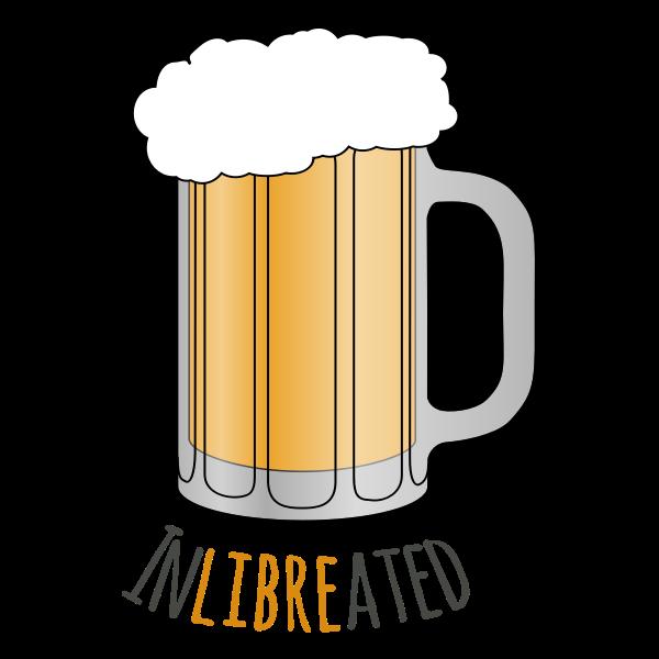 Beer mug with writing underneath vector image