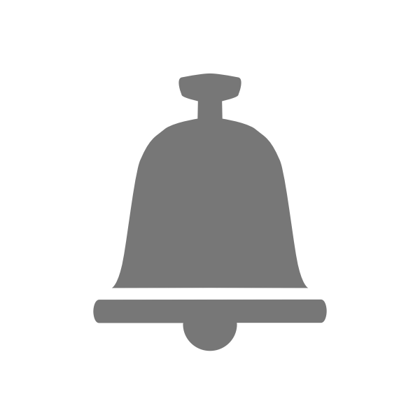 Grayscale bell icon vector image