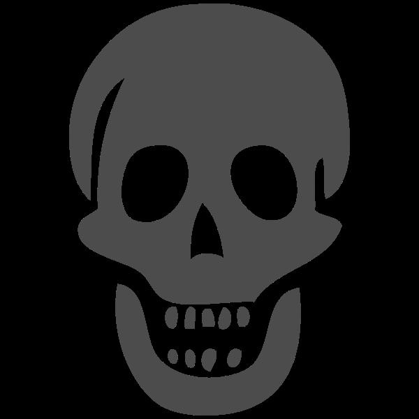 Scary skull vector image