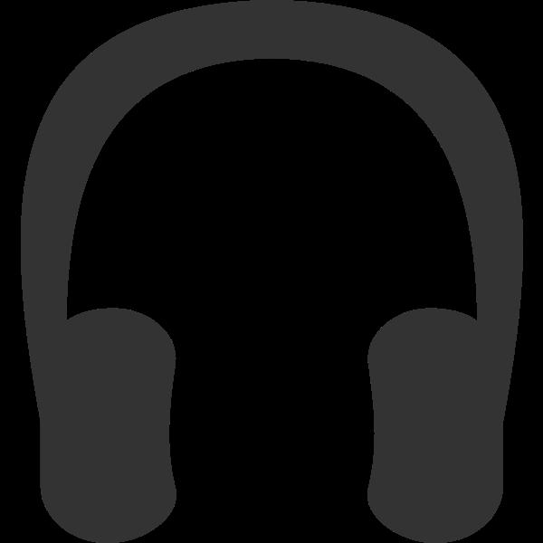 Vector graphics of headphones symbol