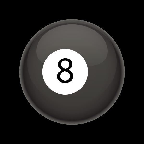 Black pool ball