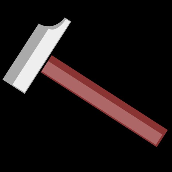 Vector clip art of cartoon drawing of a hammer