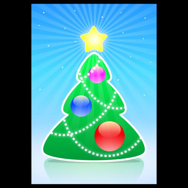 Cartoon Christmas tree vector illustration