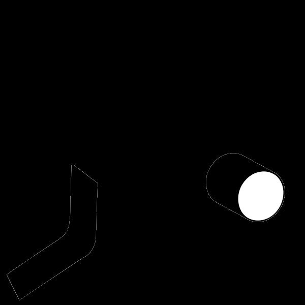 Camera warning symbol vector image