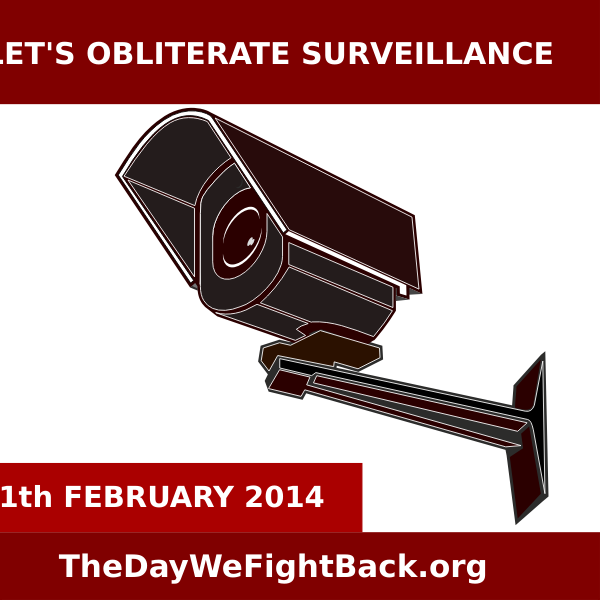 Lets obliterate surveillance vector image