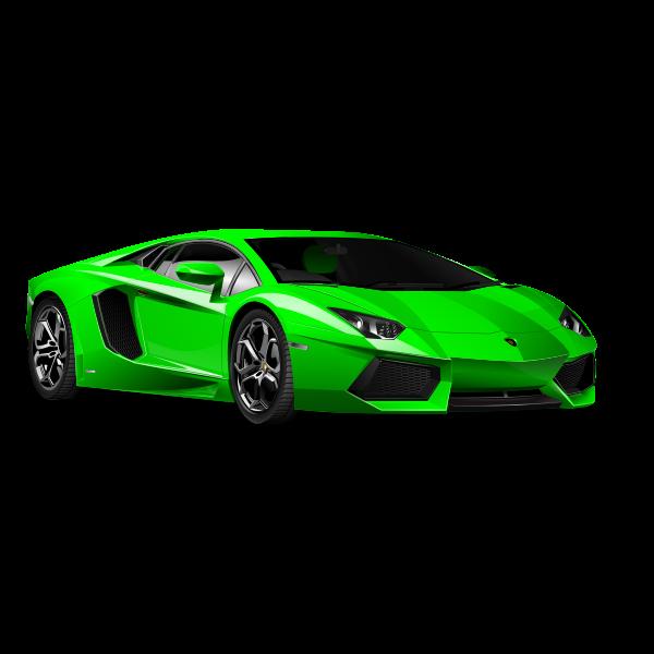 Green Lamborghini vector graphics