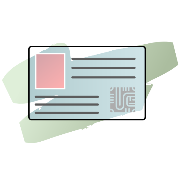 Smartcard with chip vector image
